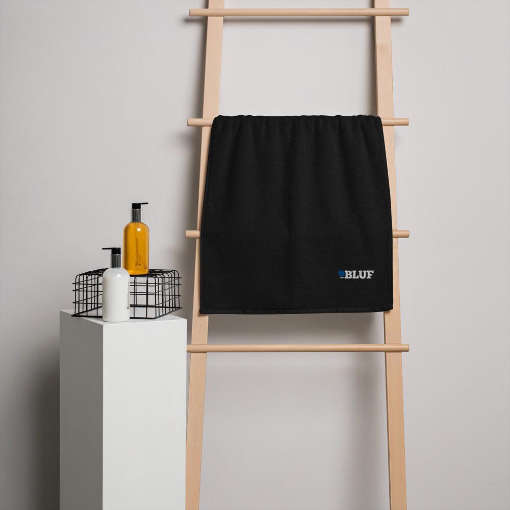 Turkish cotton towel, black