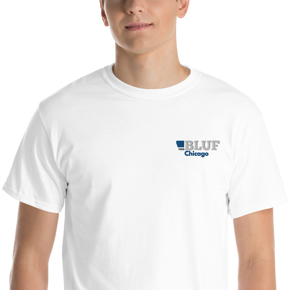 BLUF Chicago Embroidered T shirt