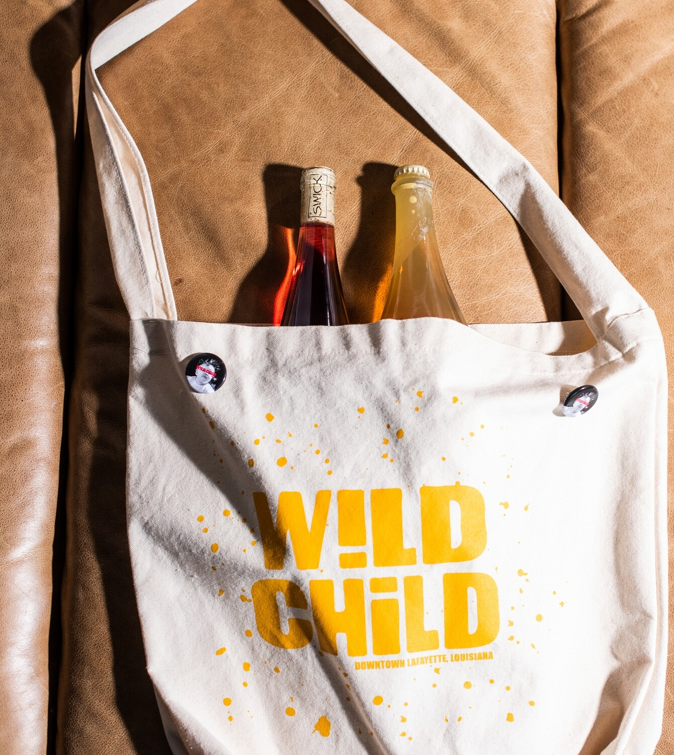 Curated 2 Bottles + the Wild Child Market Sack