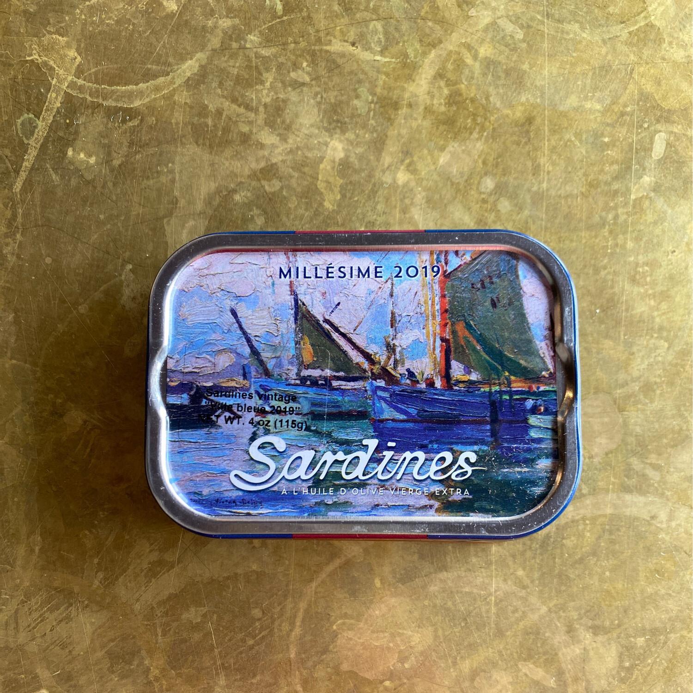 Les Mouettes d'Arvor Sardines Vintage Ville Bleue