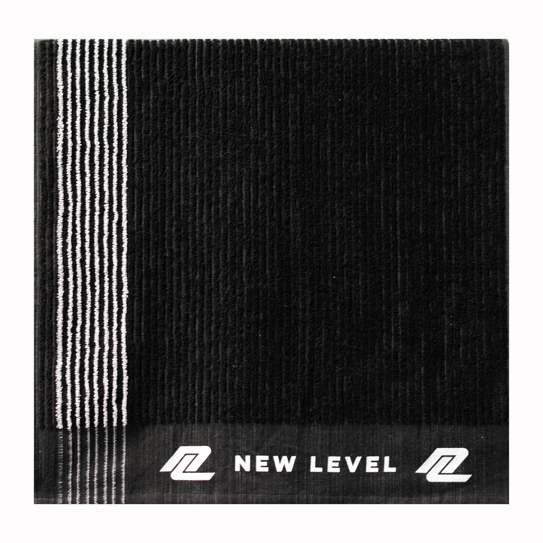 "New Level Black ""STRIPED"" Caddy Towel"