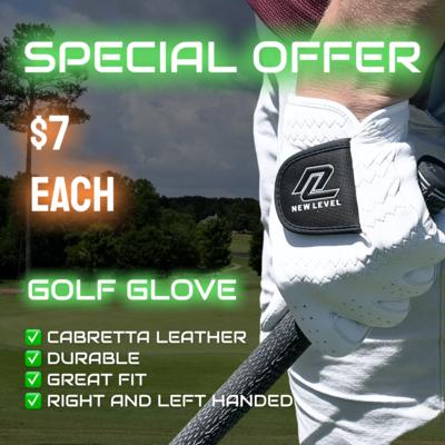 New Level Cabretta Leather Golf Glove