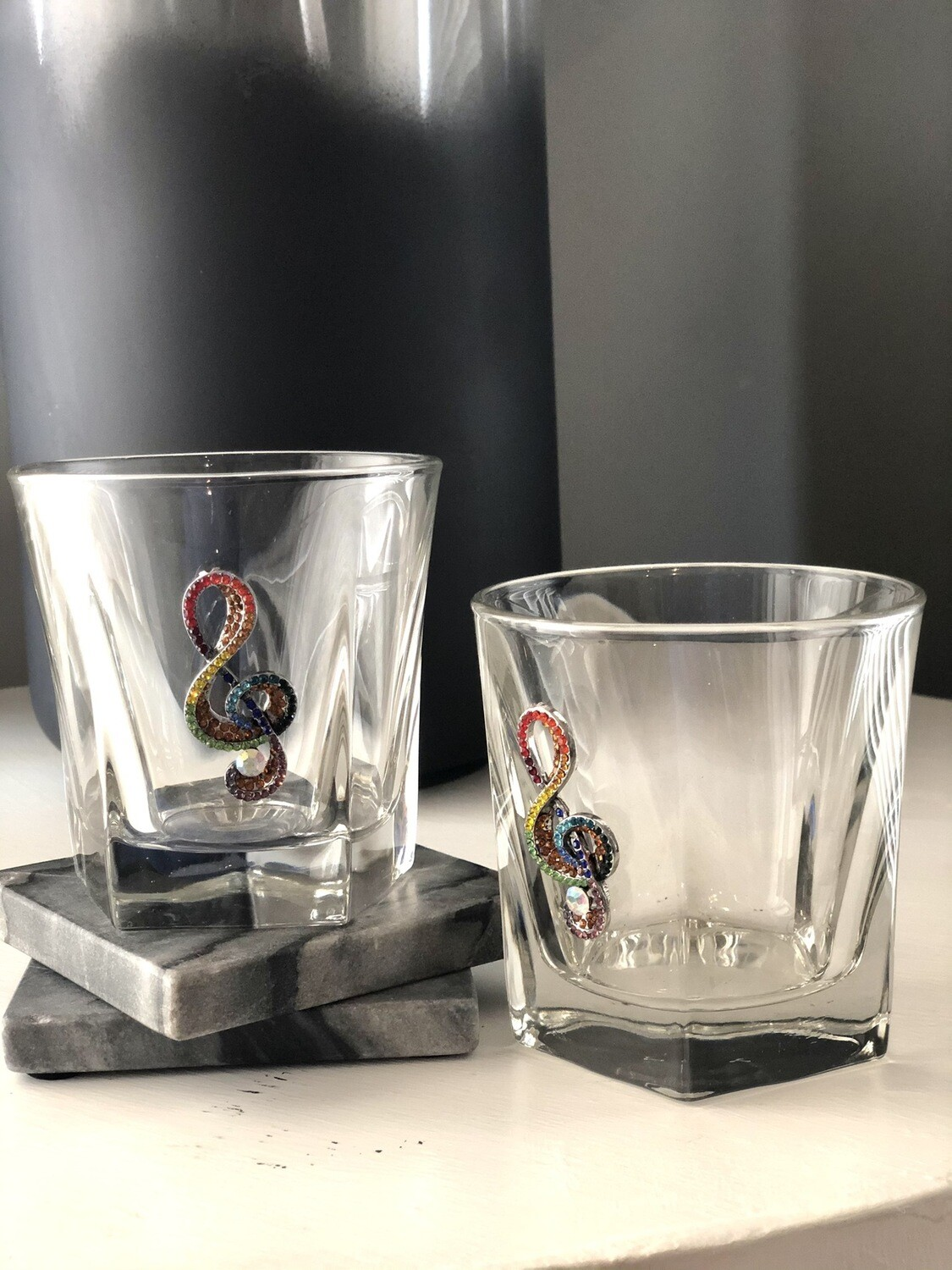 Shades of Music Bourbon Glasses: Set of Two