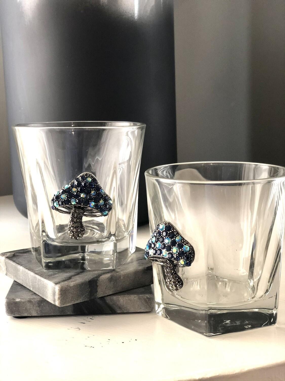 Blooming Mushroom Bourbon Glasses: Set of Two