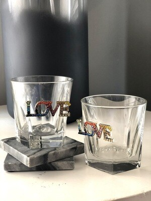 Colors Of LOVE Bourbon Glasses: Set of Two