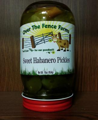 Sweet Habanero Pickles