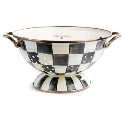 Courtly Check Enamel Colander - Large