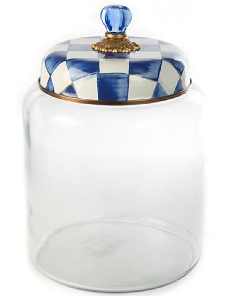 Royal Check Storage Canister - Bigger