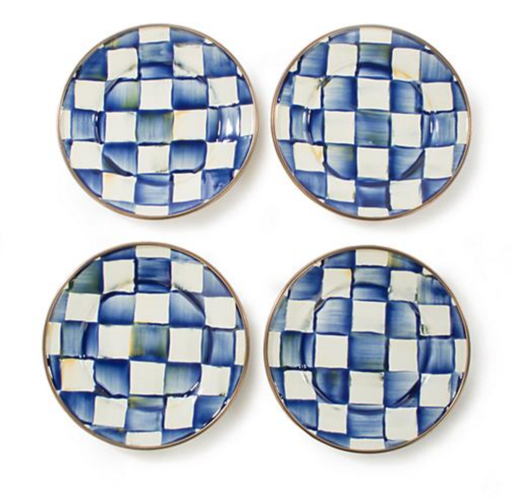 Royal Check Canape Plates - Set of 4