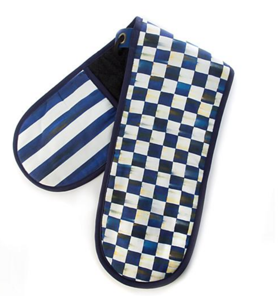 Royal Check Double Oven Mitt Large