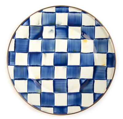 Royal Check Dinner Plate