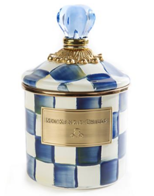 Royal Check Enamel Canister - Demi