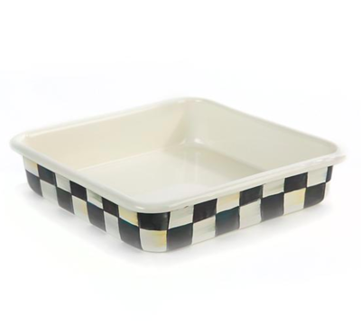 Courtly Check Enamel Baking Pan - 8in