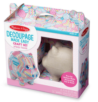 Decoupage Made Easy - Piggy Bank #30106