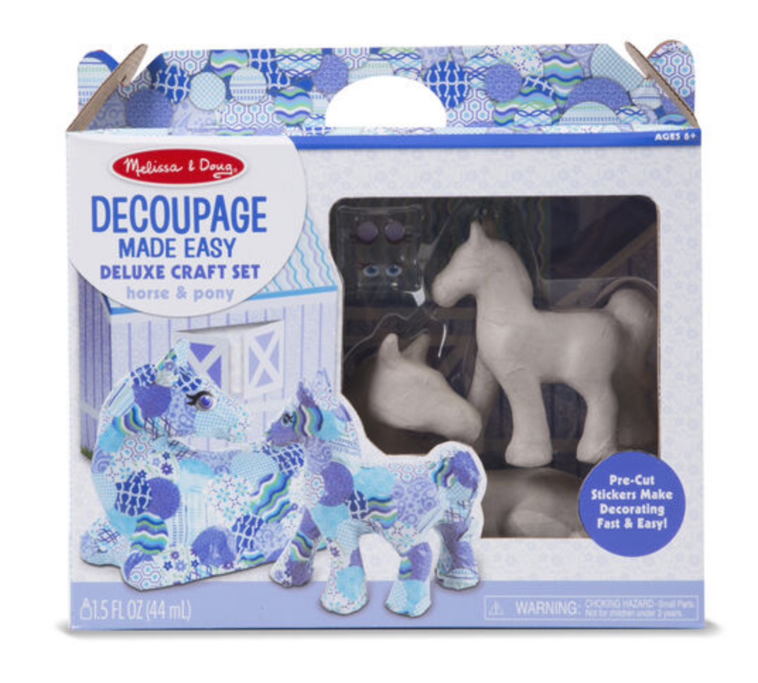 Decoupage Made Easy Deluxe Craft Set - Horse & Pony #30107