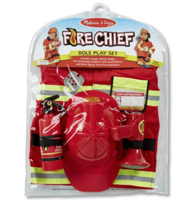 Fire Chief Role Play Costume Set #4834