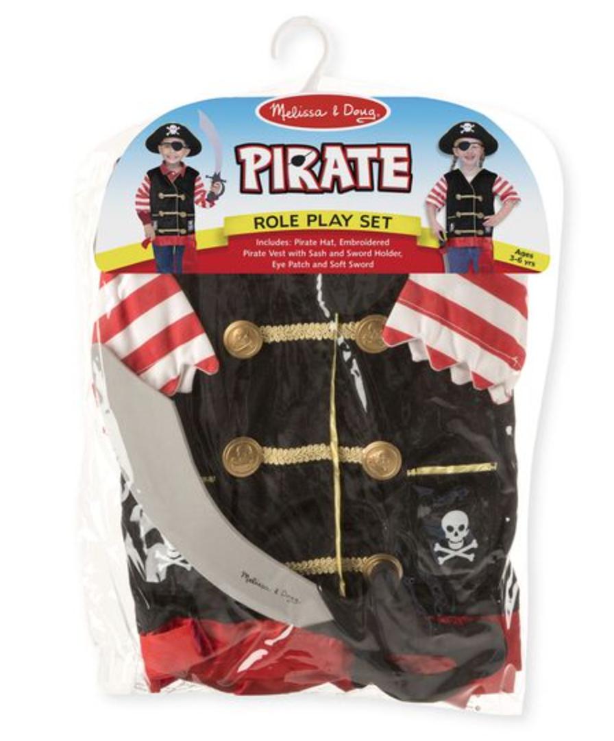 Pirate Play Set Costume
