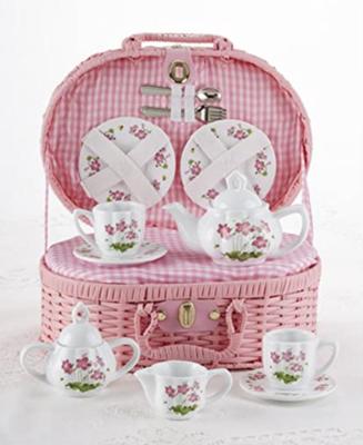 Pink Flower Large Tea Set