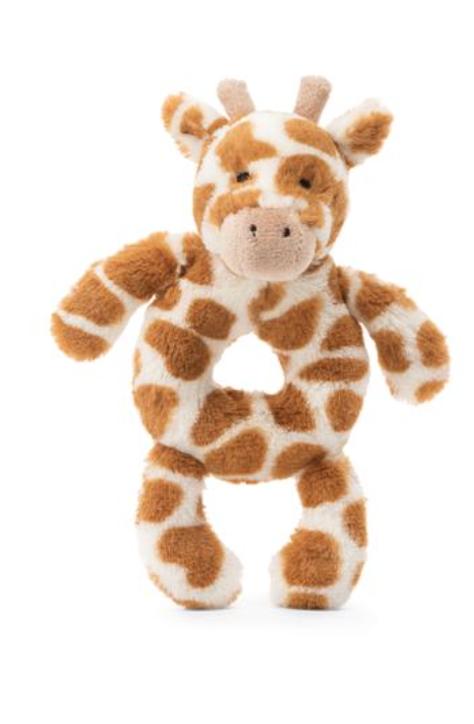 Bashful Giraffe Ring Rattle #BGN4GR