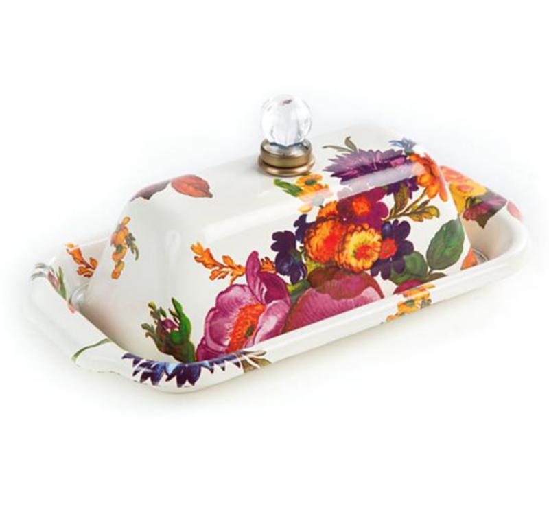 Flower Market Butter Box - White