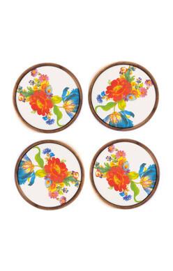 Flower Market Coasters - Set of 4