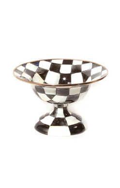 Courtly Check Enamel Compote - Small