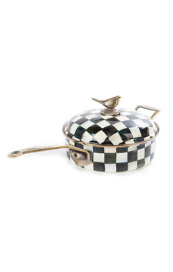 Courtly Check Enamel 3qt. Sauté Pan