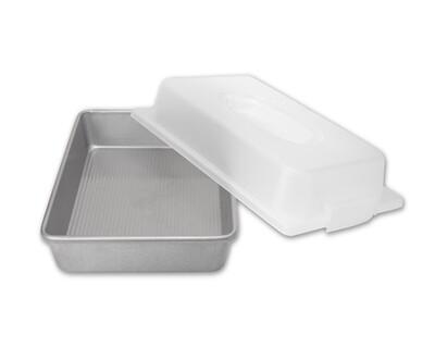 USA Rectangular Cake Pan w/ Lid Set