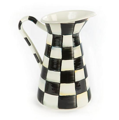 Courtly Check Enamel Practical Pitcher - Small