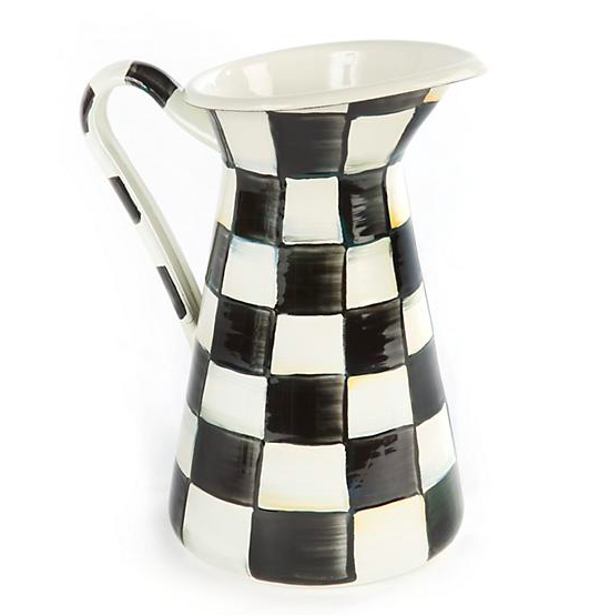Courtly Check Enamel Practical Pitcher - Medium