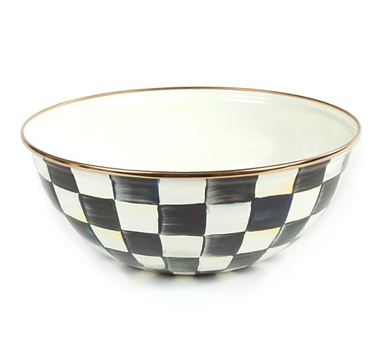 Courtly Check Enamel Everyday Bowl - Medium