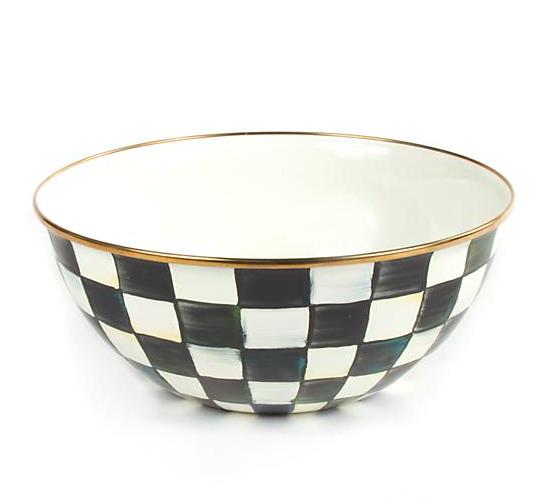 Courtly Check Enamel Everyday Bowl - Large