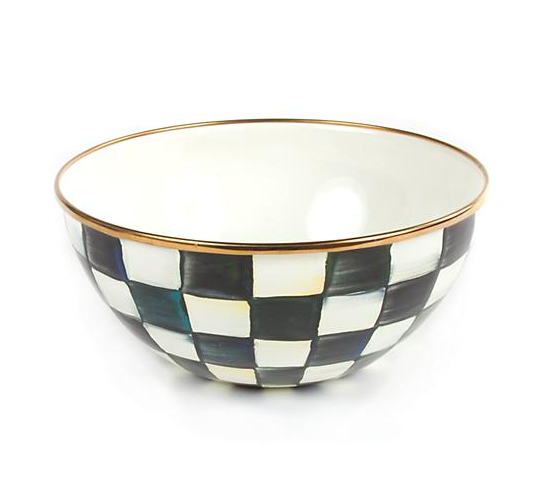 Courtly Check Enamel Everyday Bowl- Small