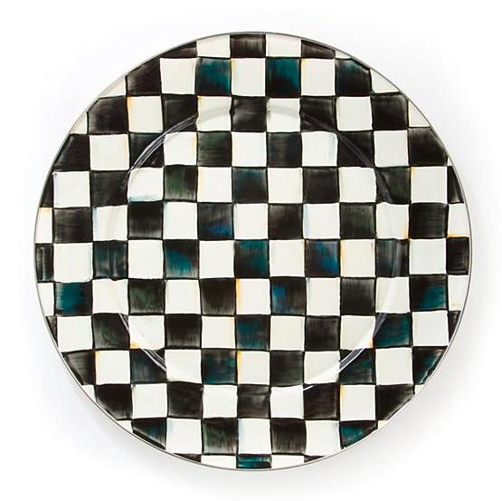 Courtly Check Enamel Serving Platter