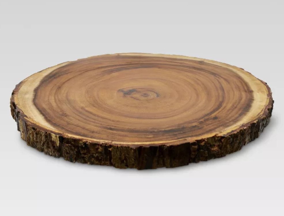 Oval Board w/ Bark