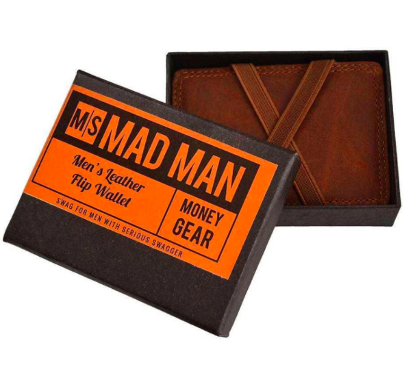Men's Leather Flip Wallet