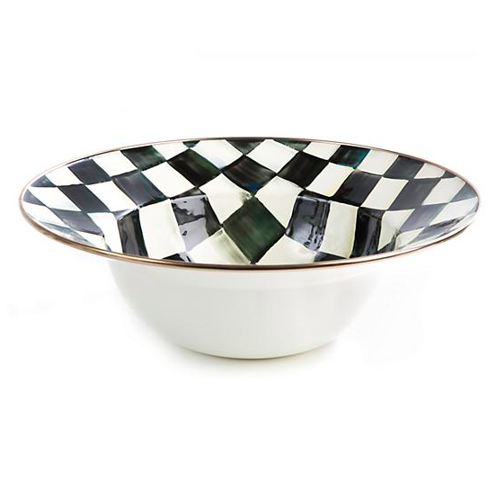 Courtly Check Enamel Serving Bowl
