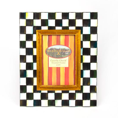 Courtly Check Enamel Frame 4x6in