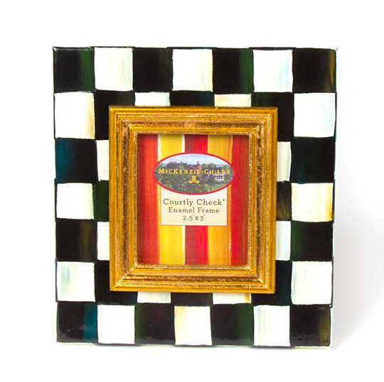 Courtly Check Enamel Frame 2.5x3in