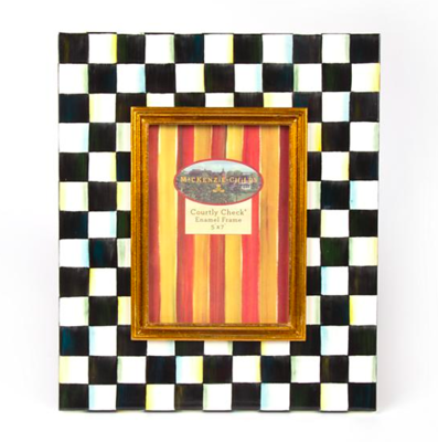 Courtly Check Enamel Frame 5x7in