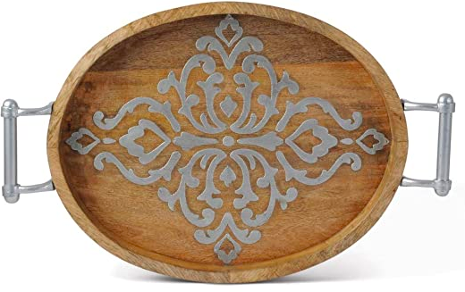 Heritage Medium Oval Tray With Handles #92843