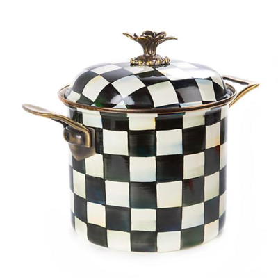 Courtly Check Enamel 7qt. Stockpot
