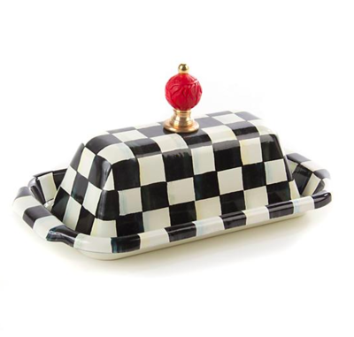 Courtly Check Enamel Butter Box