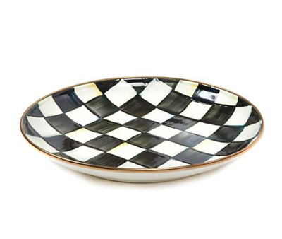 Courtly Check Enamel Dinner Coupe