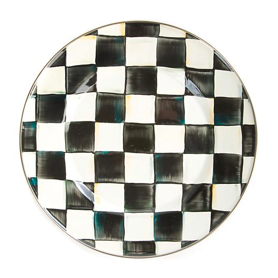 Courtly Check Enamel Dinner Plate