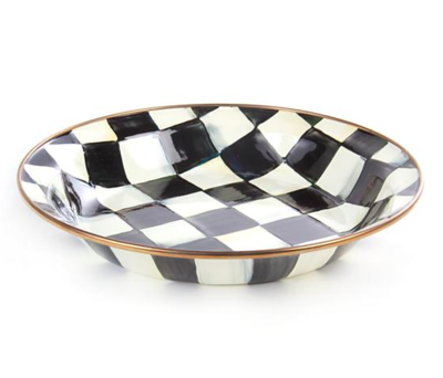courtly check enamel pie plate