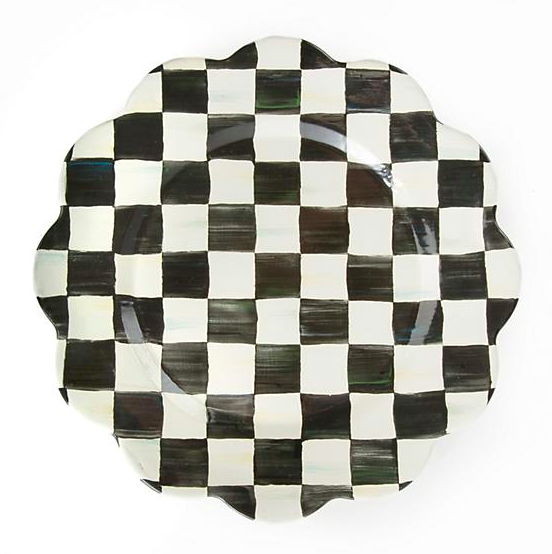 Courtly Check Enamel Petal Charger Plate