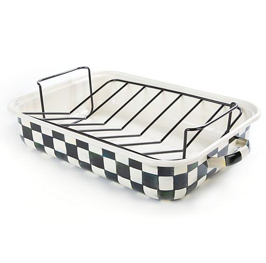 Courtly Check Enamel Roasting Pan w/ Rack