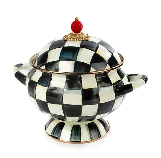 Courtly Check Enamel Tureen