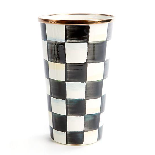 Courtly Check Enamel Tumbler - 20 Ounce